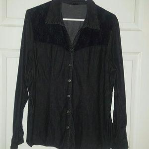 Western Black Denim w- Lace Shirt